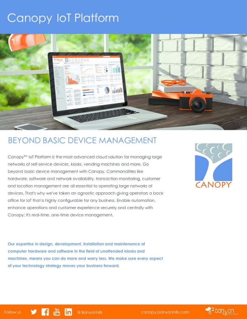 Canopy IoT data sheets