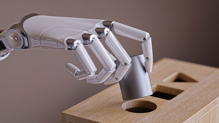 Machine learning robot hand