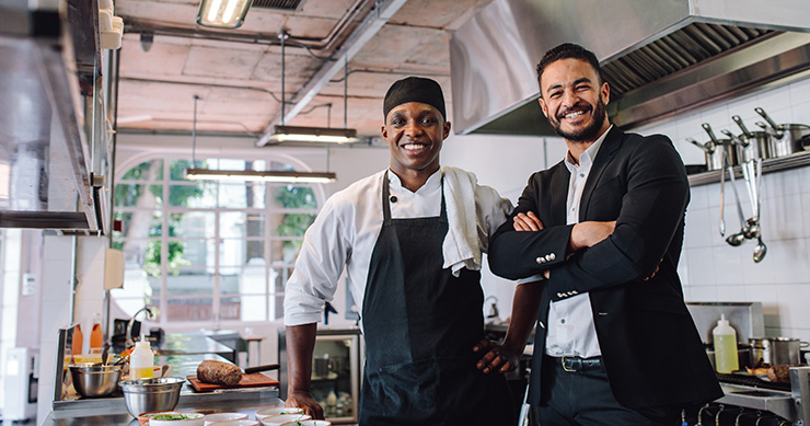 Chef and owner at restaurant