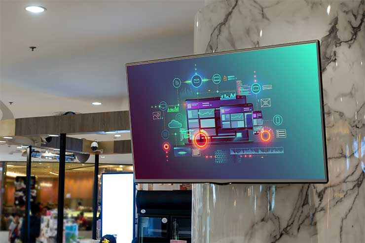 Digital Signage in a Retail Setting
